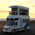 Towering Chinese Smart RV Features Elevator to Second-Floor Sunroom
