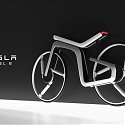 The Tesla Model B is an Electric Bicycle Concept That's Futuristic on the Inside and Out