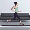 Ultra-Sleek Mini Walk Smart Treadmill Tucks Away Where Others Can't