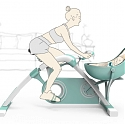 Spinning Together : Baby Cradle and Static Exercise Bike in One