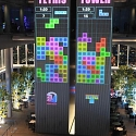 (Video) Play a Giant Game of Tetris Tower on Roof of Skyscraper in Osaka, Japan