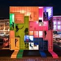 Tetris Meets Snake and Ladders in Colorful Tiny-Living Installation