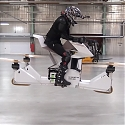 (Video) Hoversurf's Scorpion 3 is The World's First Fully-Manned Hoverbike