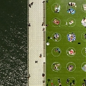 Brooklyn's Domino Park Painted Circles on the Grass to Ensure Social Distancing