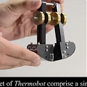 (Video) Thermobot : Robot With Bimetal Feet Can Walk in a Frying Pan Forever