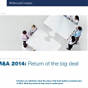 (PDF) Mckinsey - M&A 2014 : Return of the Big Deal