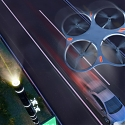 Flying Poles Direct The Drone Highway + Driverless Car System of the Future