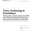 (PDF) Pew - Teens, Technology and Friendships